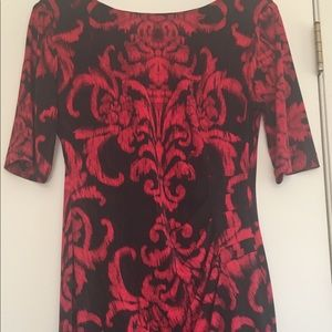 Connected Stretchy Red and Black Dress